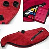 Ross Suede-Feel Zipper Pipe Bags with Canister System